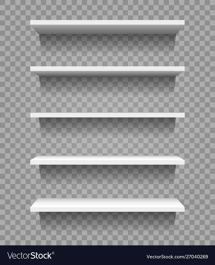 Shop product blank shelves isolated on