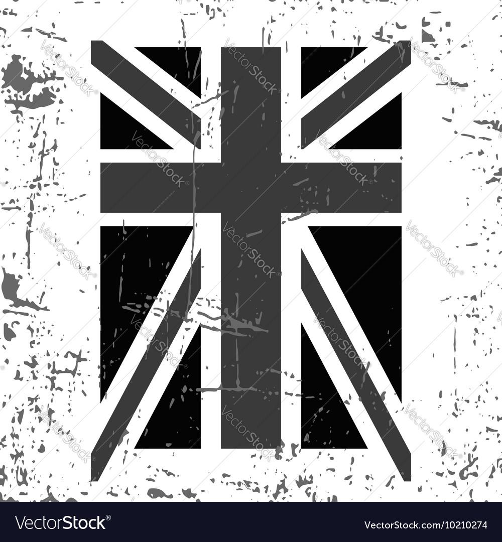 British flag t shirt typography graphics black vector image