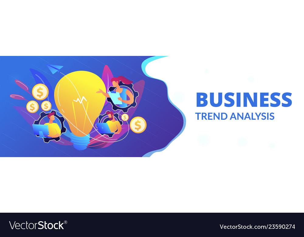 Business trend analysis concept banner header