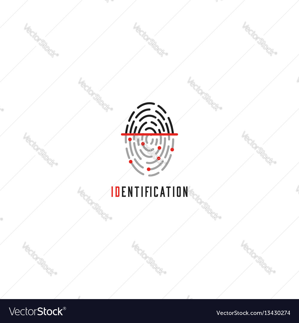 Fingerprint scanner logo identification user id