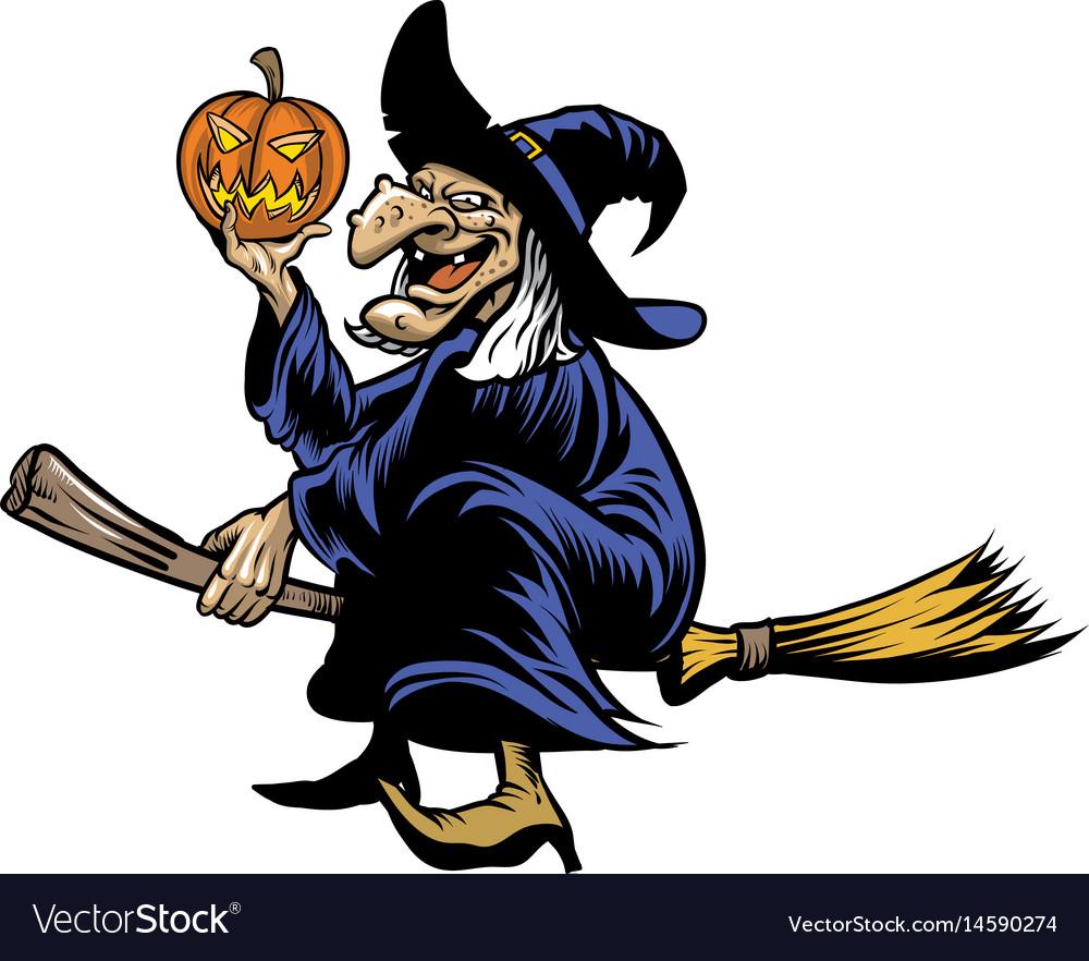 Halloween witcher vector image