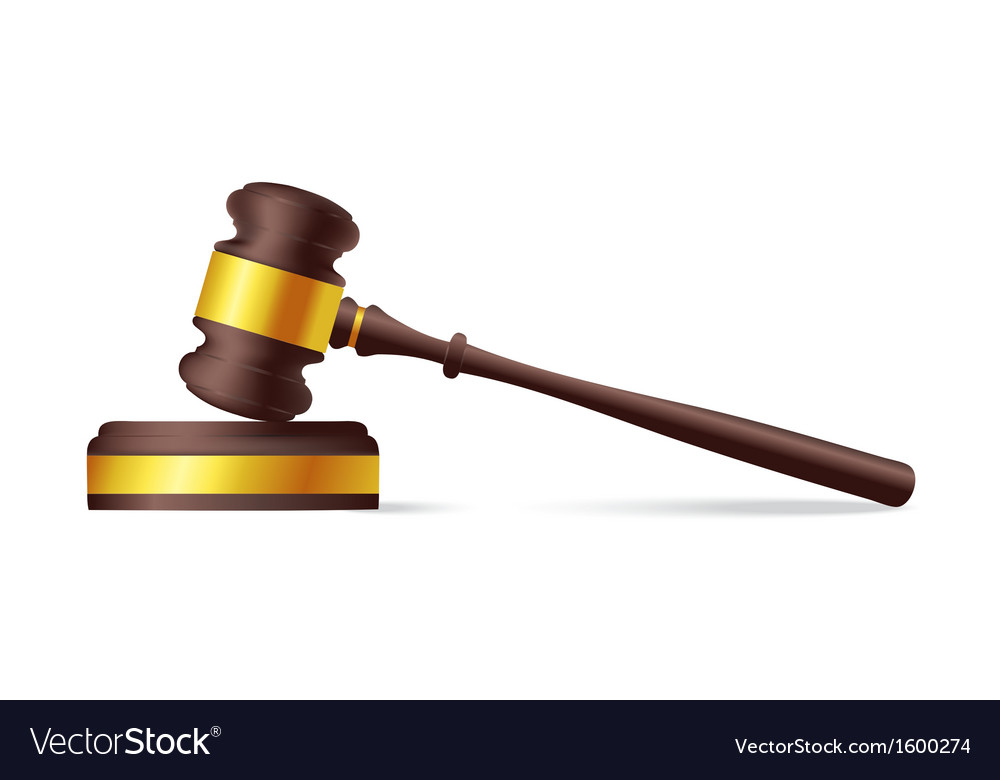 judge gavel royalty free vector image vectorstock rh vectorstock com gavel vector image gavel vector