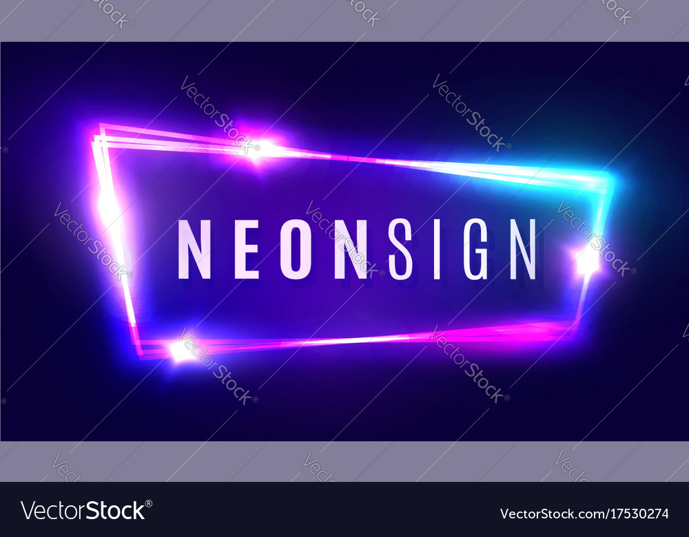 Neon sign retro light signboard with neon effect