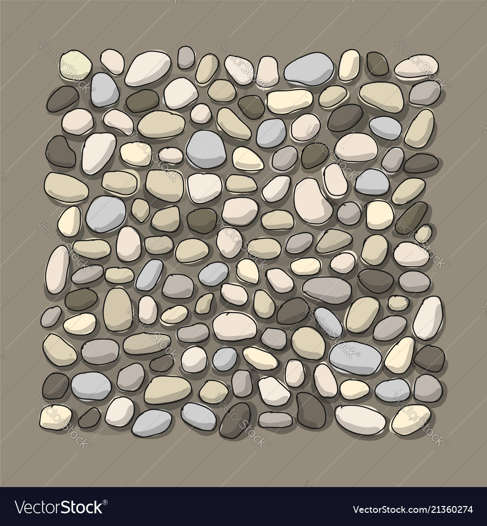 Pebble background for your design