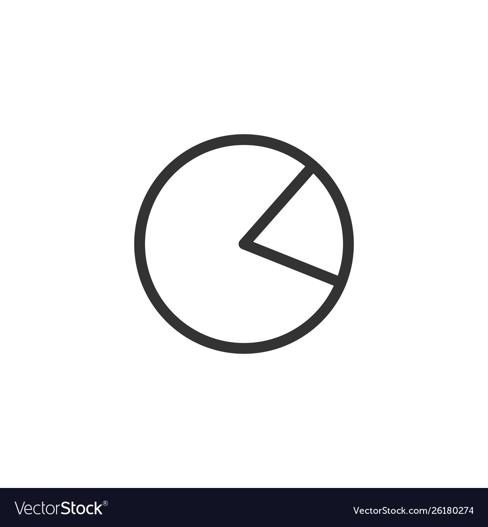 Pie chart icon graphic design template