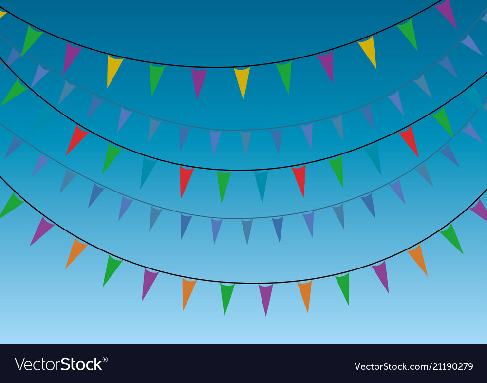 A group party miniflags garlands