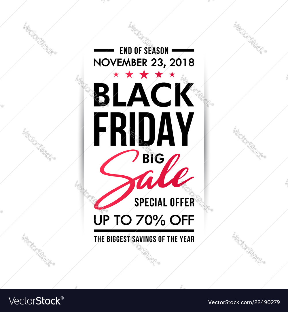 Black friday sale banner vertical design isolated