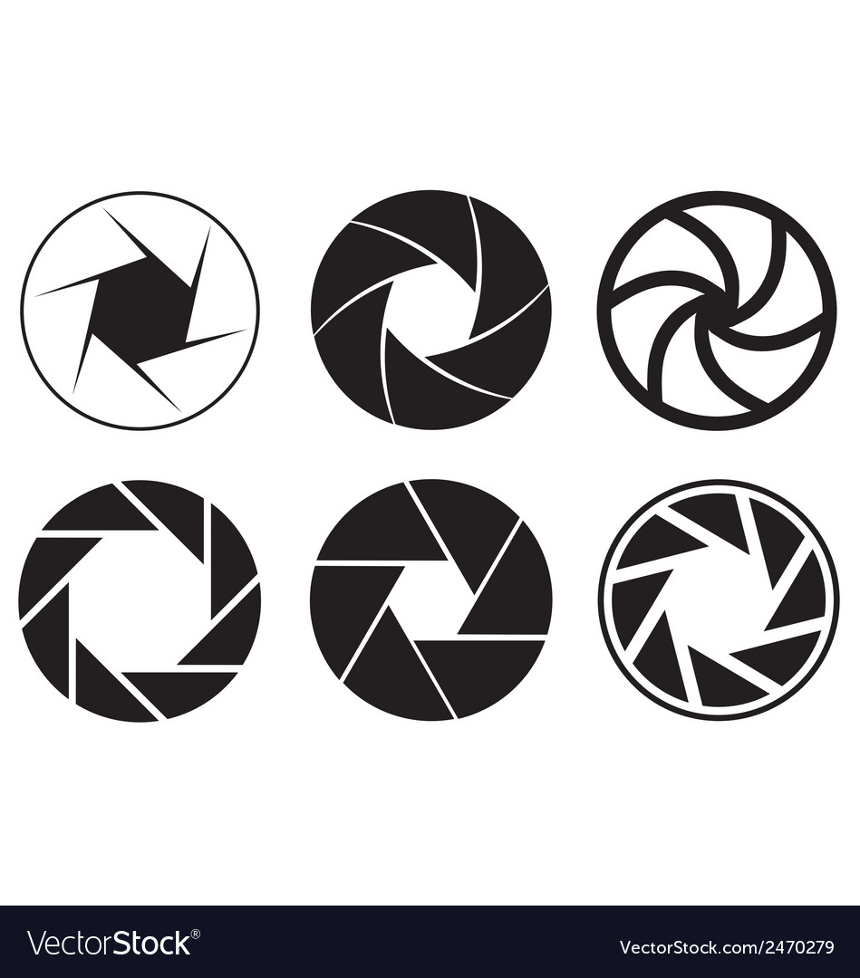 camera aperture icons royalty free vector image rh vectorstock com aperture vector art aperture vector image