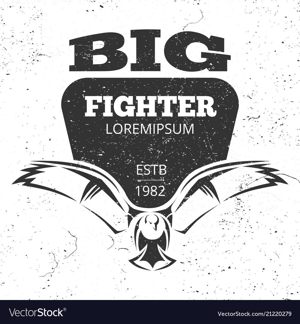 Flying eagle grunge emblem or logo