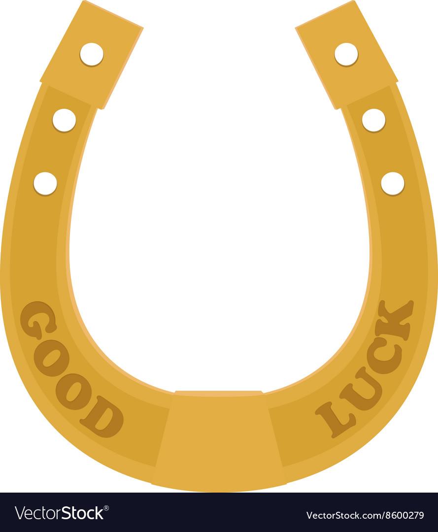 Golden Horseshoe traditional good luck charm vector image