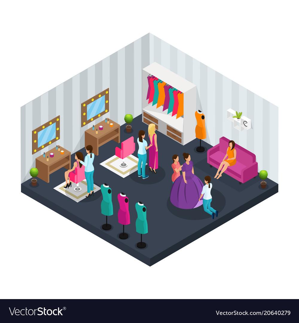 Isometric makeup room concept