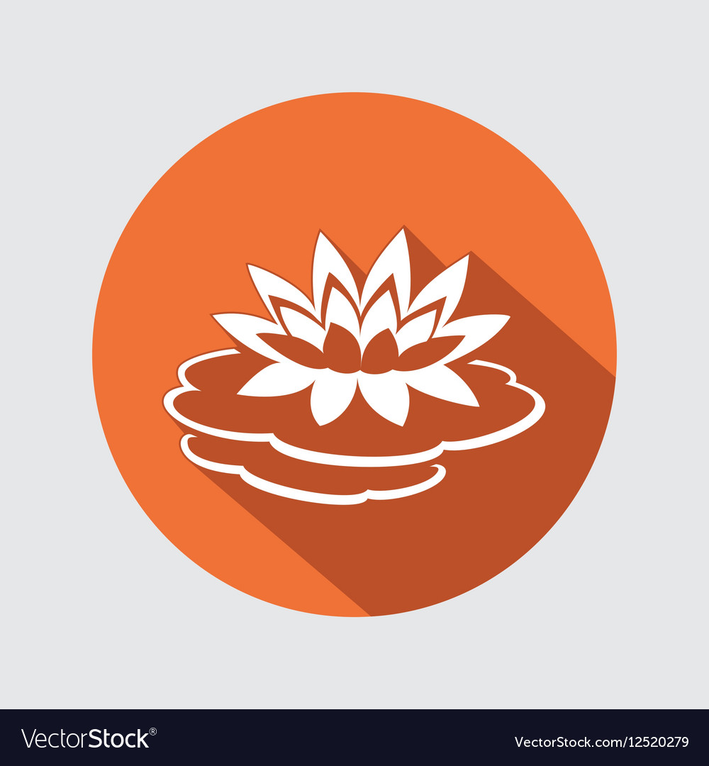 Lily flower icon Water-lilies waterlily floral