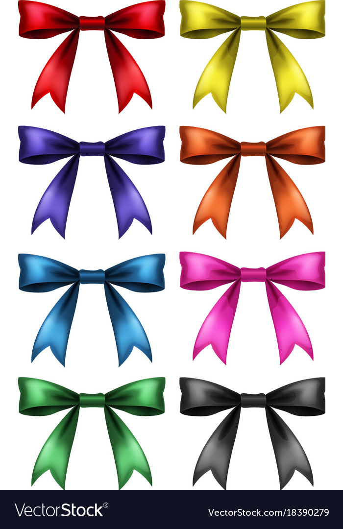 ribbon design in eight colors royalty free vector image