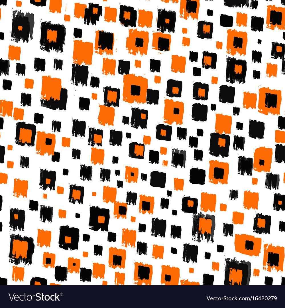 Seamless brushpen textile doodle pattern grunge