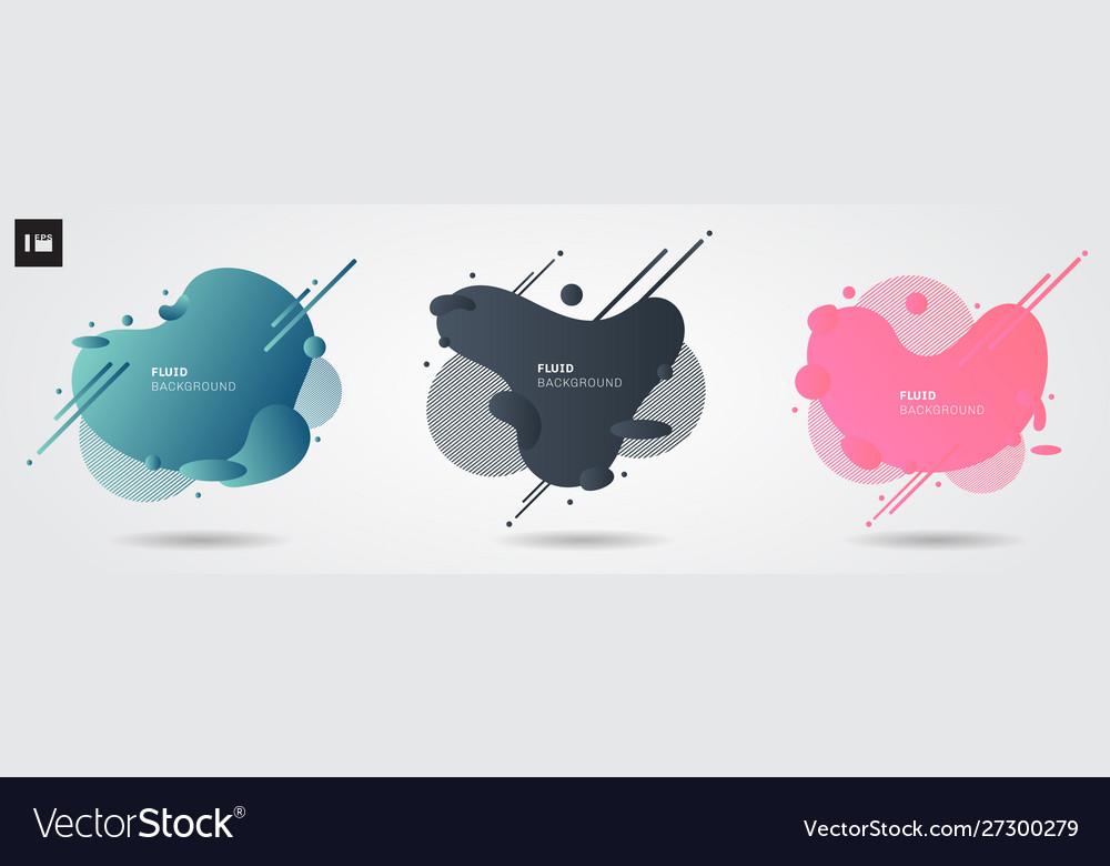 Set abstract liquid shape modern graphic