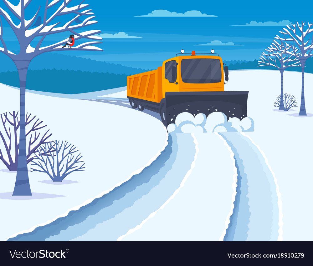 Snow transport vector image