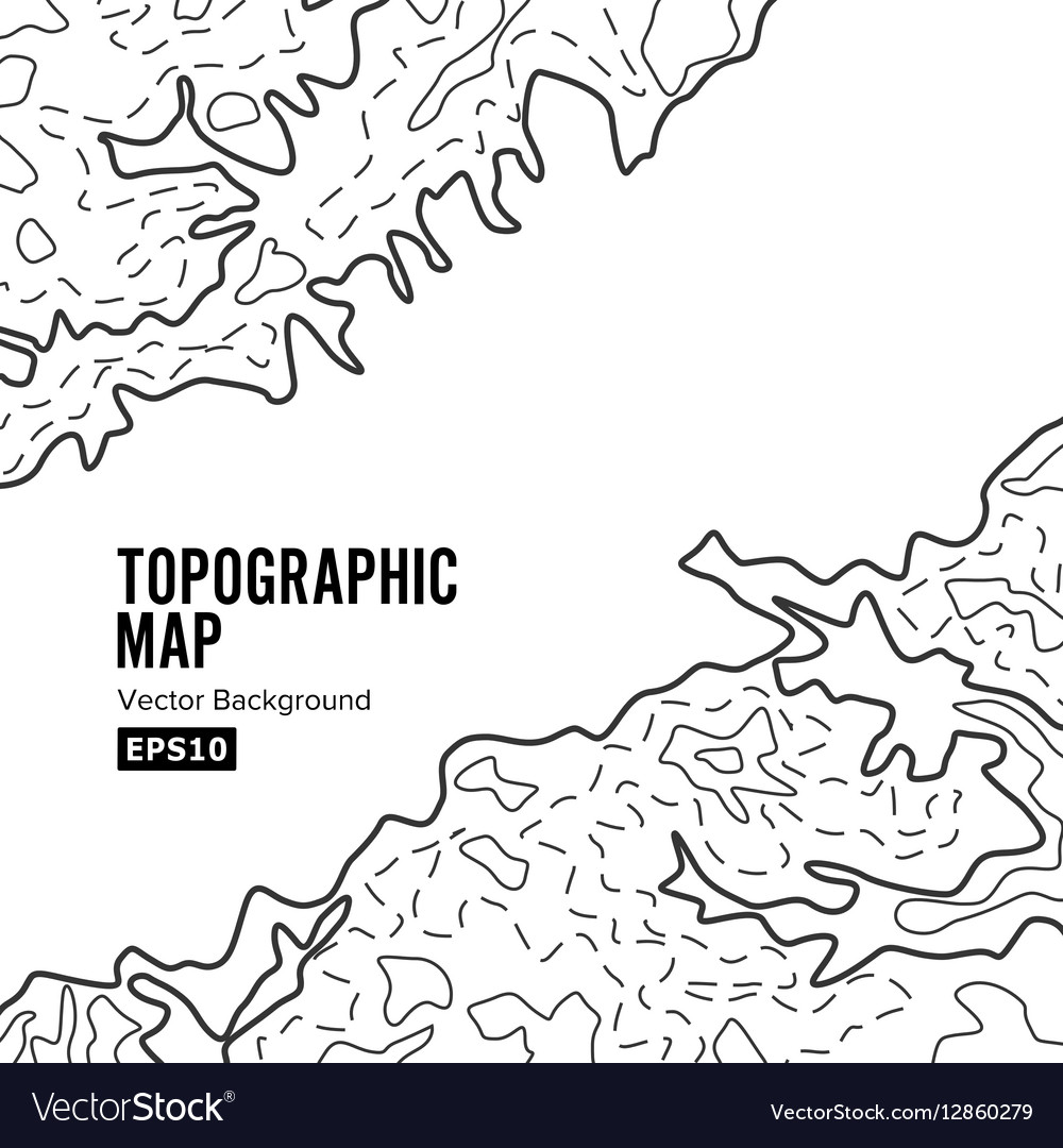 Topographic Map Background Concept Elevation