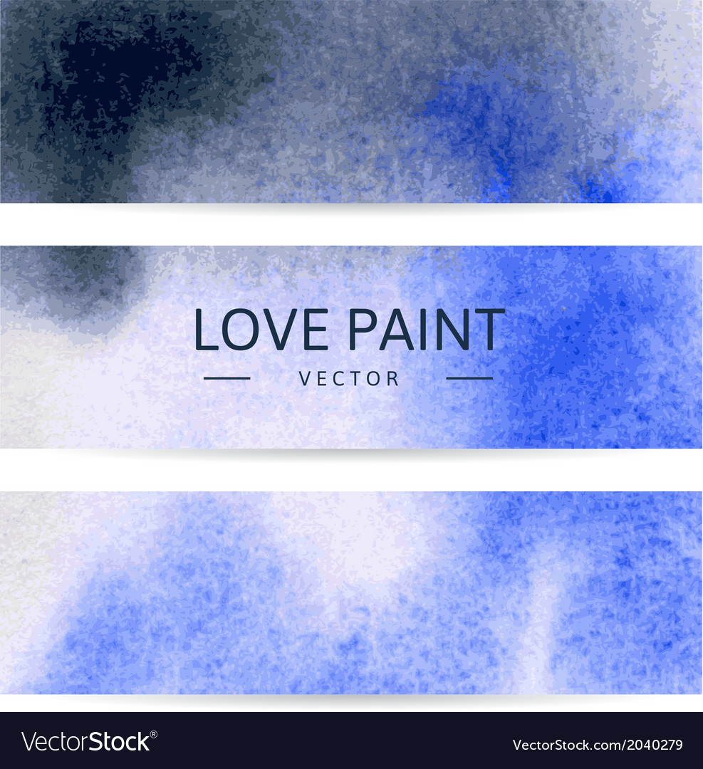 Watercolor abstract banners vector image