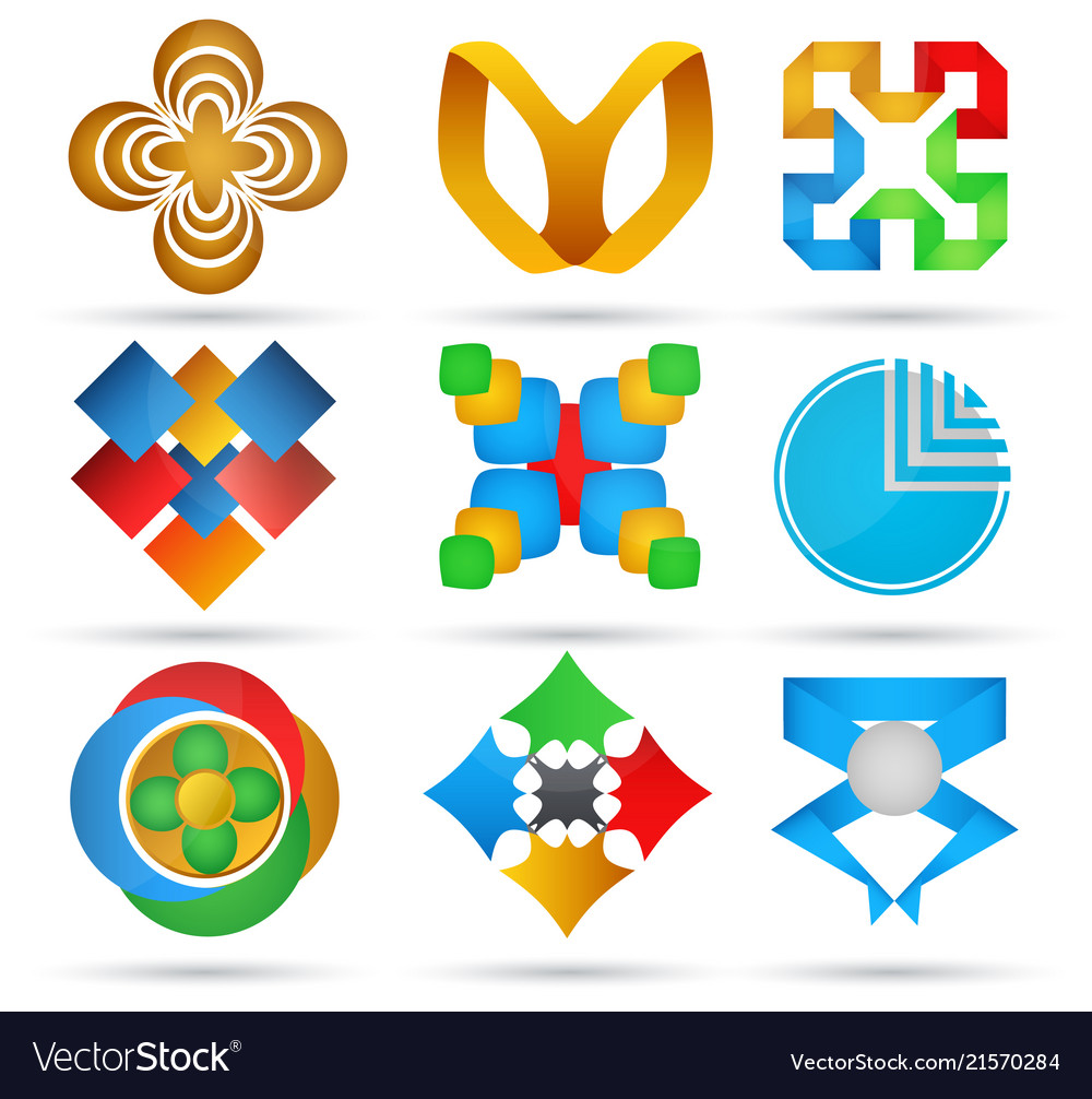 Abstract icons set of geometric icons for design