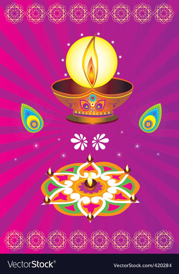 Deepavali vector image