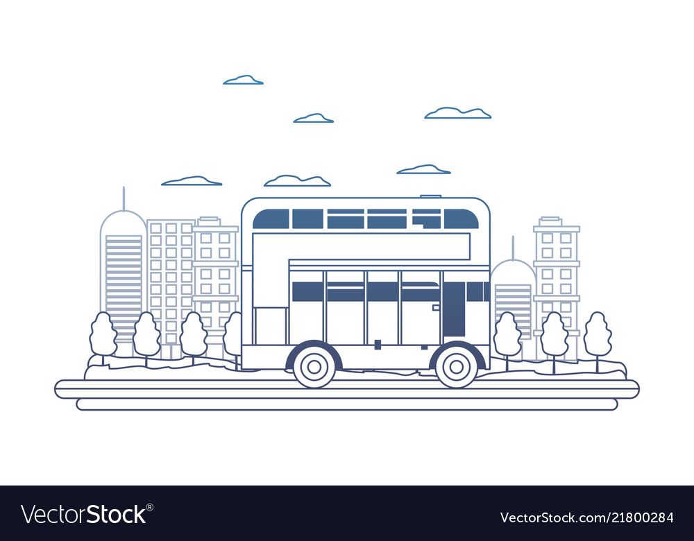 Degraded line building and urban london bus in the
