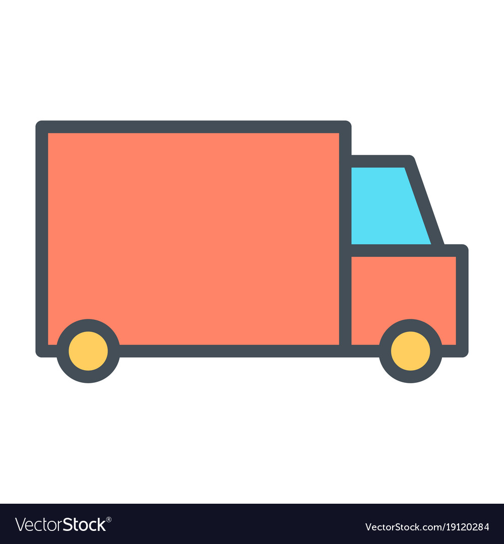 Delivery truck pixel perfect thin line icon 48x48