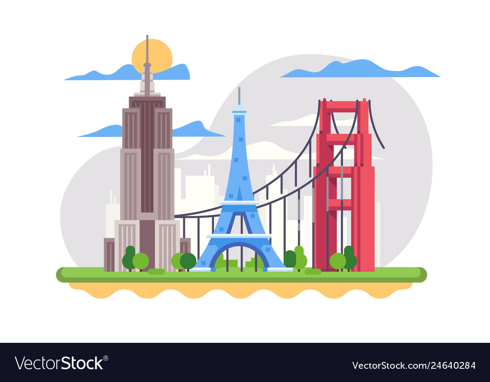 Famous french landmark