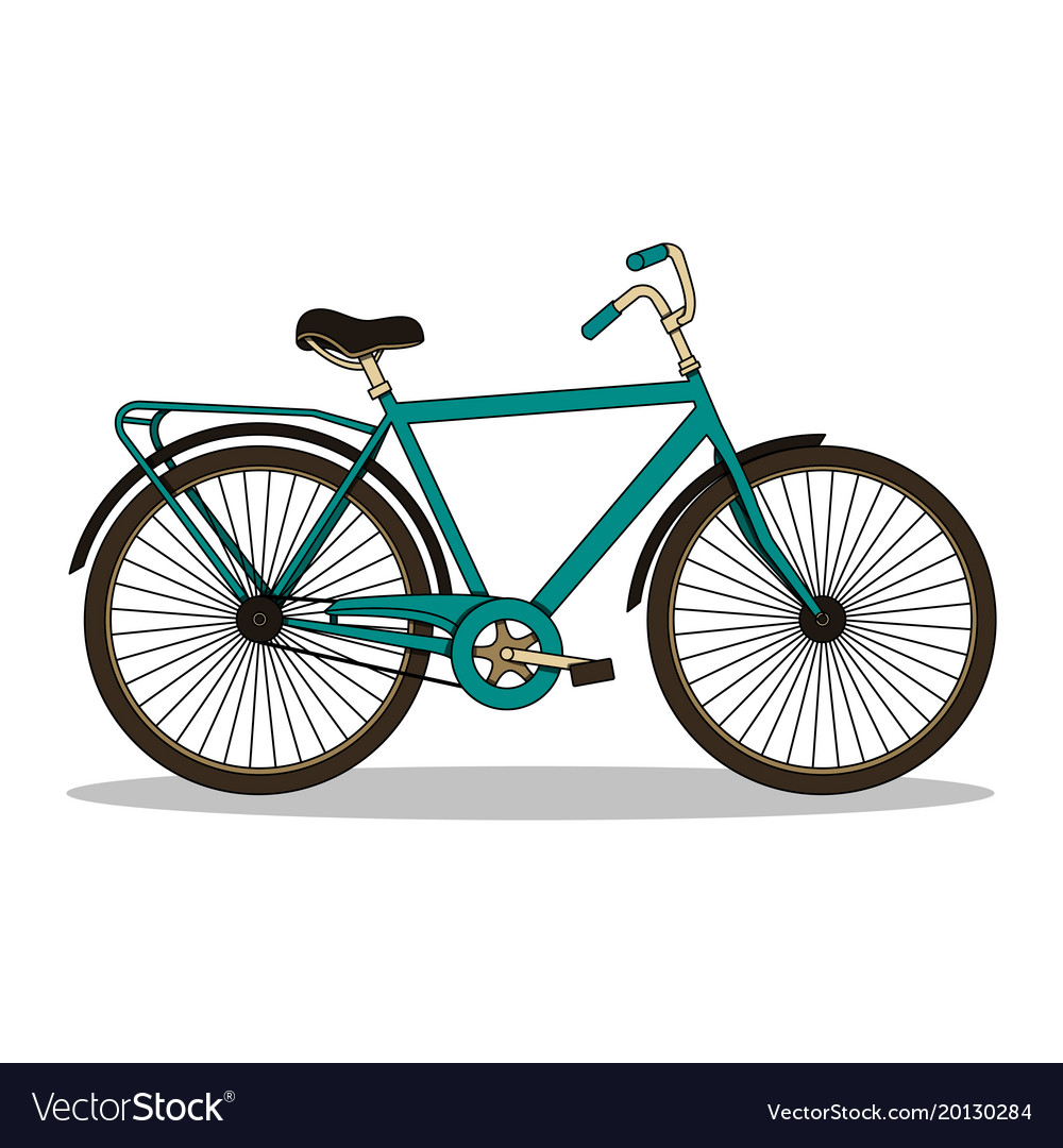 Isolated with vintage bicycle vector image