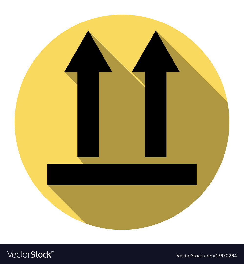 Logistic sign of arrows flat black icon