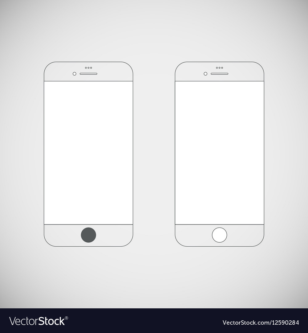Simple flat telephone icon vector image