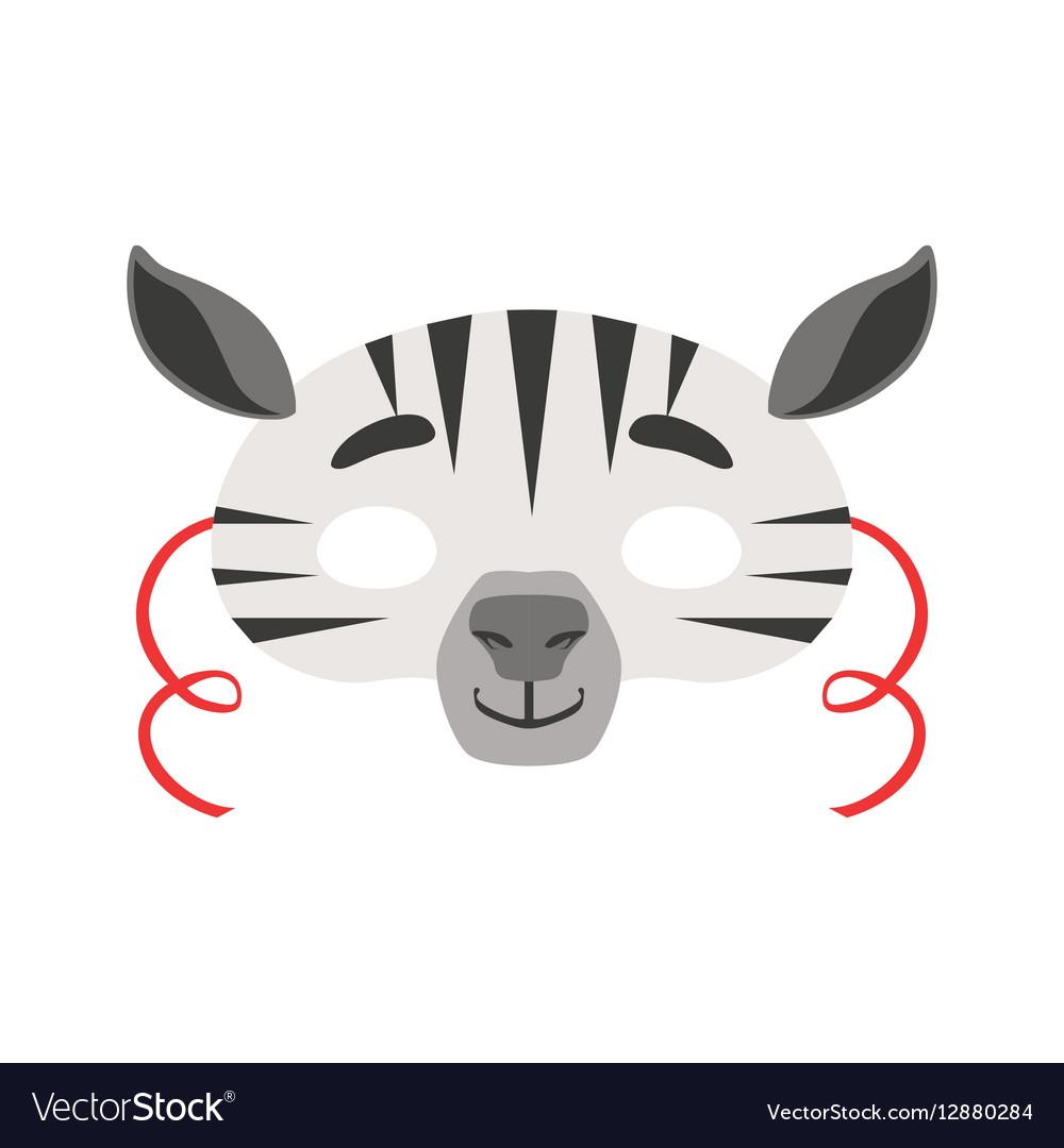 Zebra Animal Head Mask Kids Carnival Disguise vector image