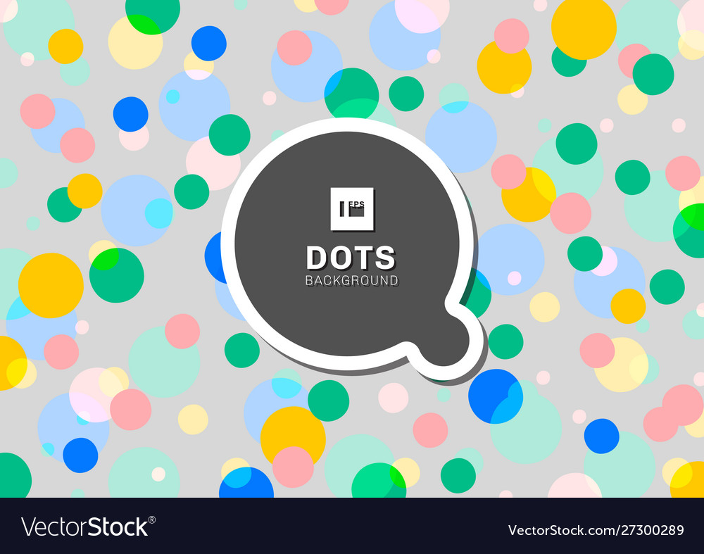 Colorful polka dots seamless pattern background