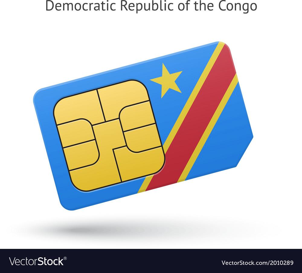 Democratic Republic of the Congo phone sim card vector image