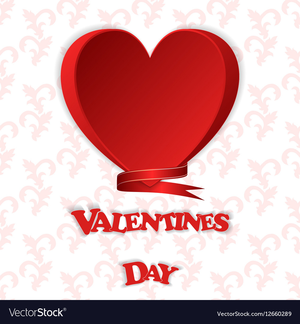 gift card with a red heart and the words valentine