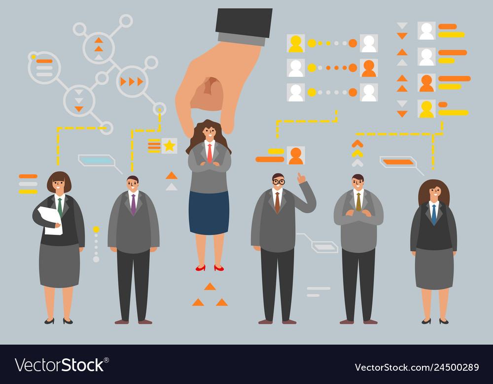 Human resource job candidate choice employer