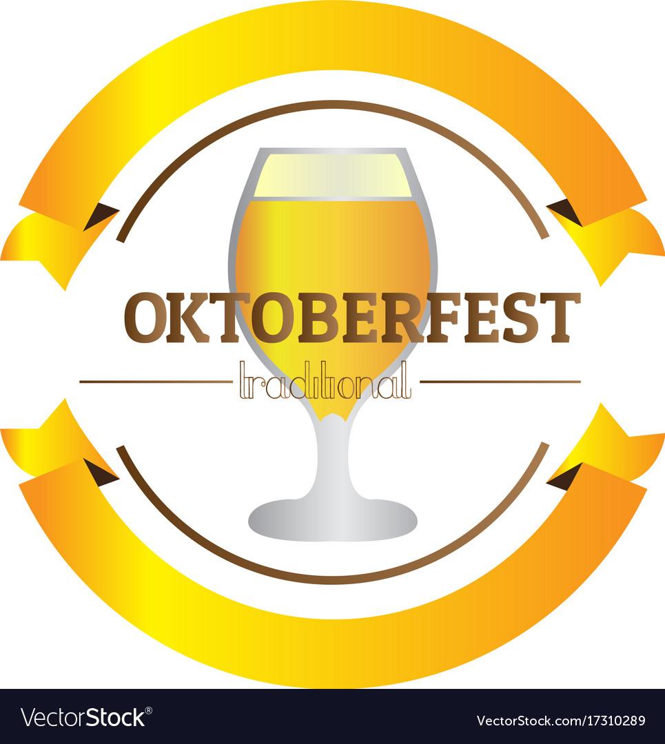 Isolated oktoberfest label