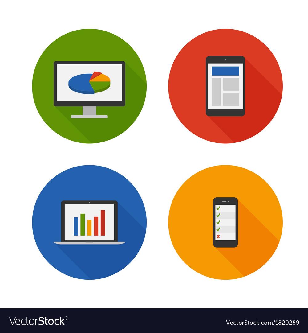 Responsive Design Flat Icons Set