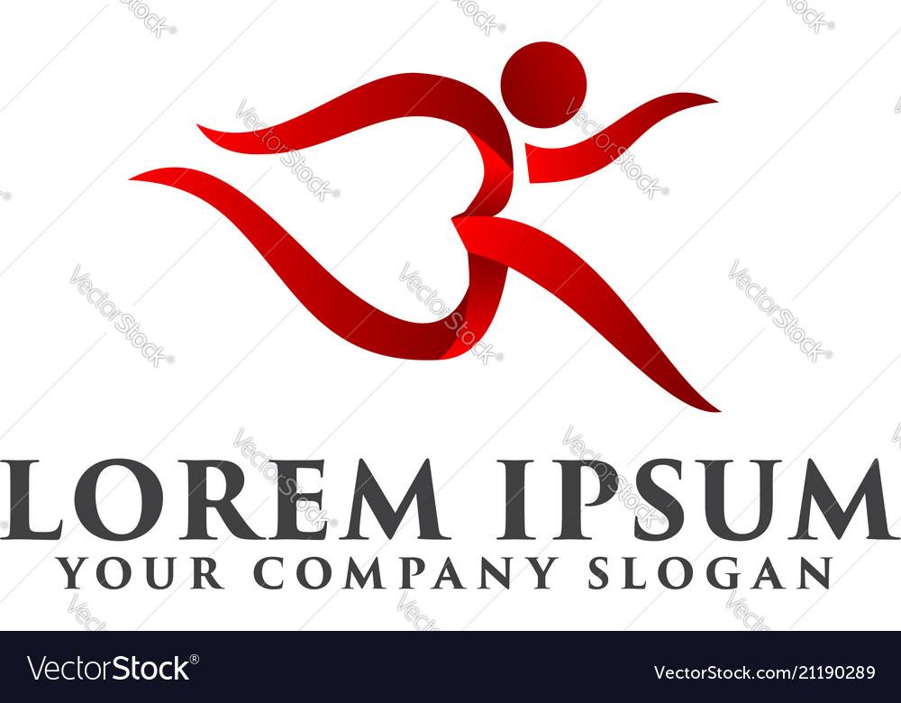 Run people logo sports logo design concept