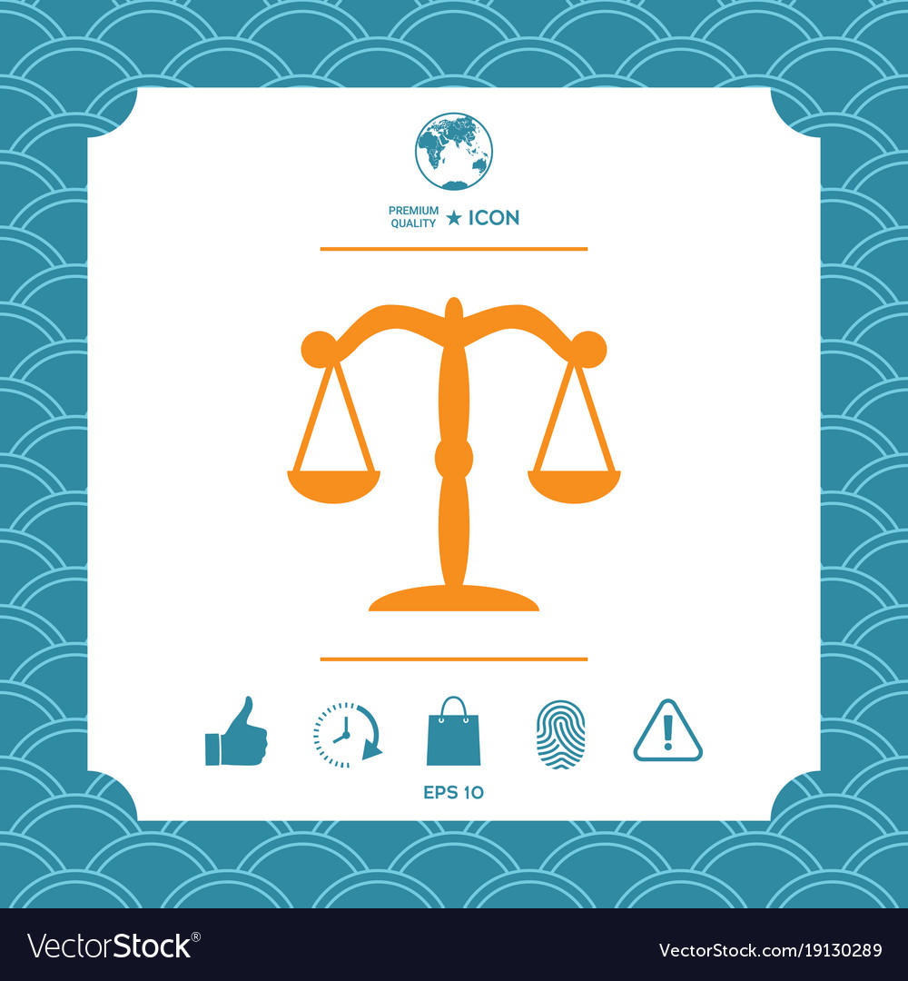 Scales symbol icon