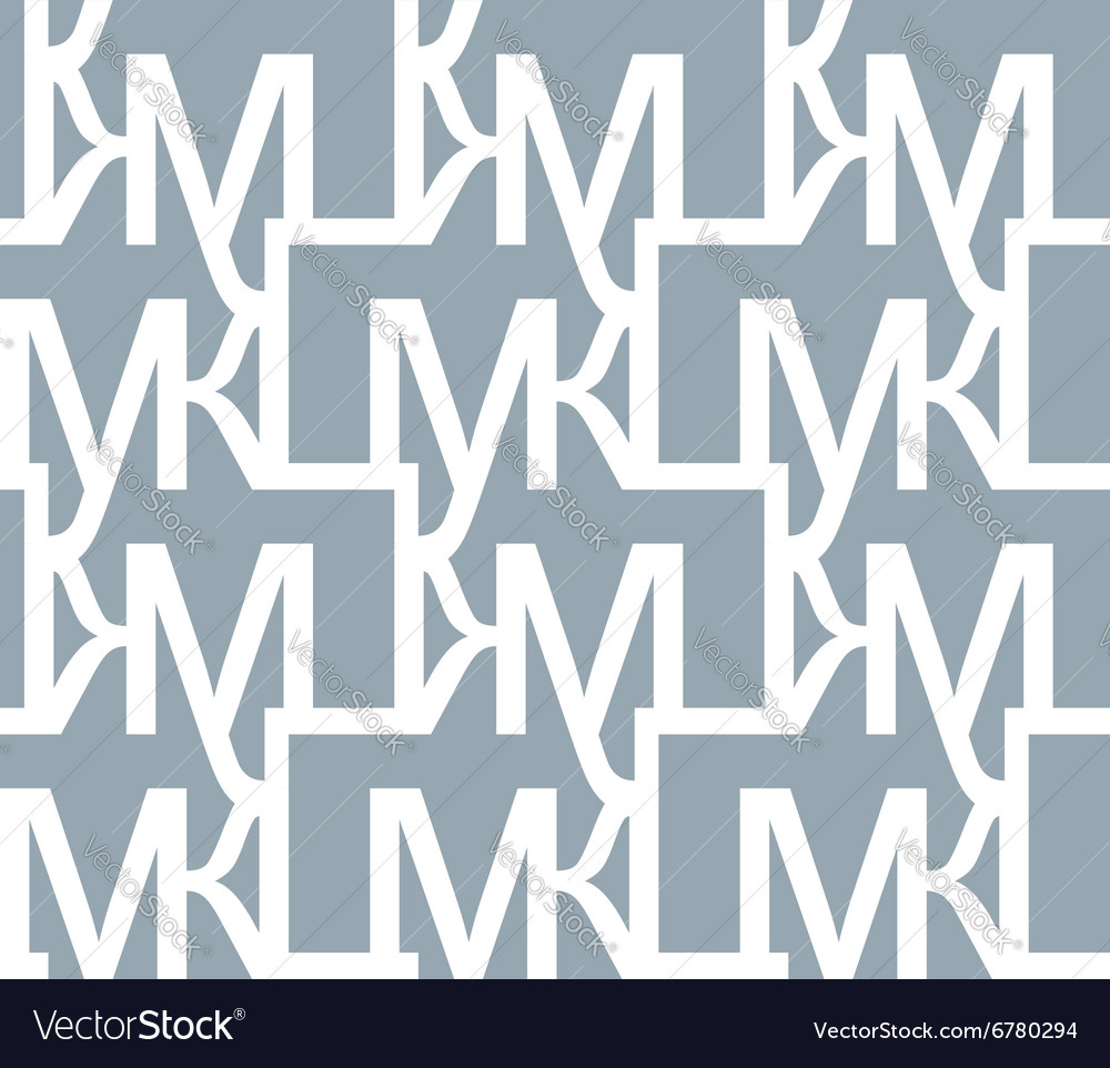 Abstract seamless pattern of letters repeating
