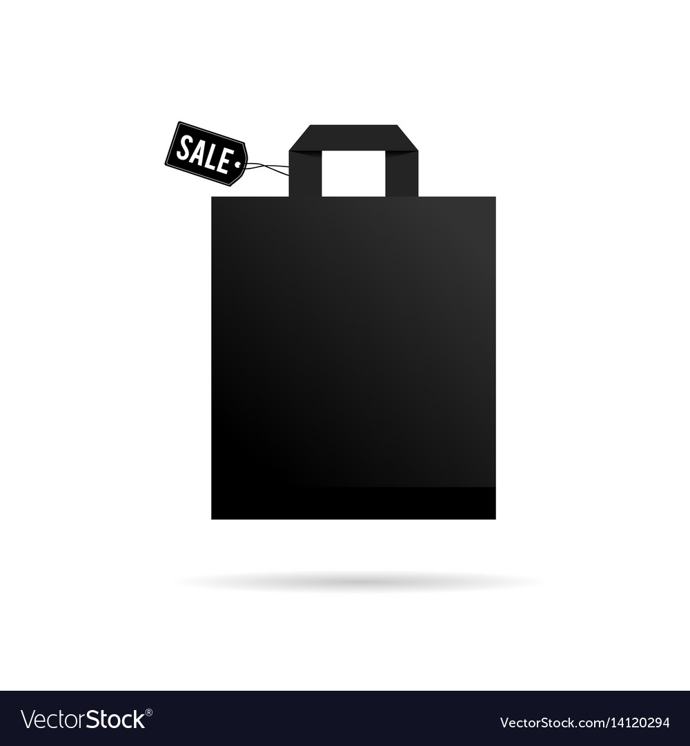Bag shopping sale icon in black