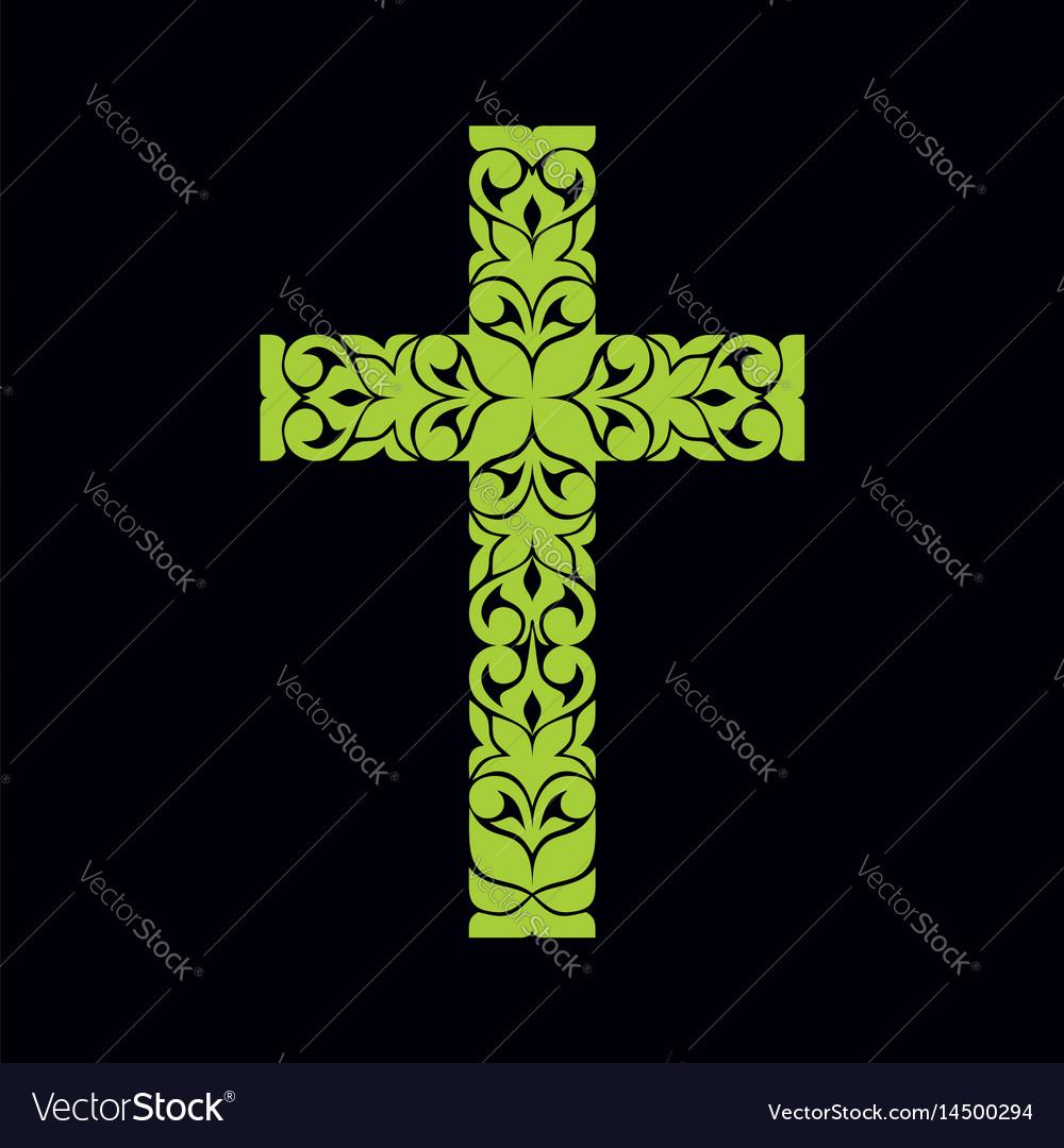 Church Logo Christian Symbols Jesus Cross Vector Image