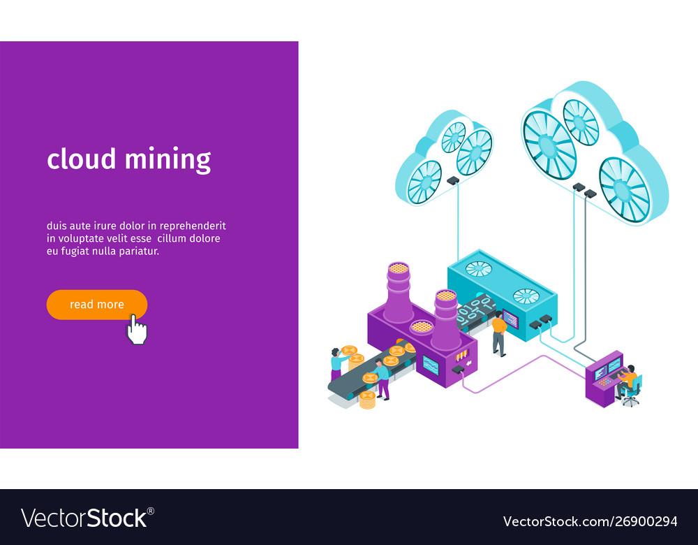 Cloud mining banner