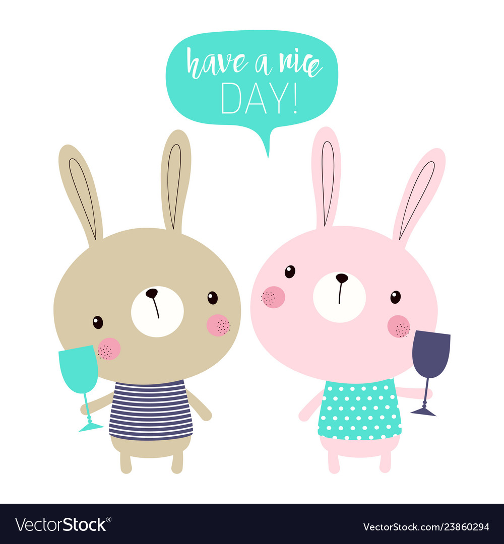Cute cartoon bunnies