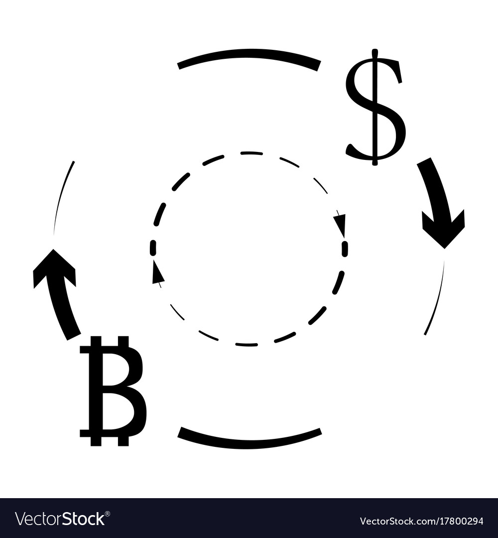 Dollar And Bitcoin Currency Exchange Vector Image