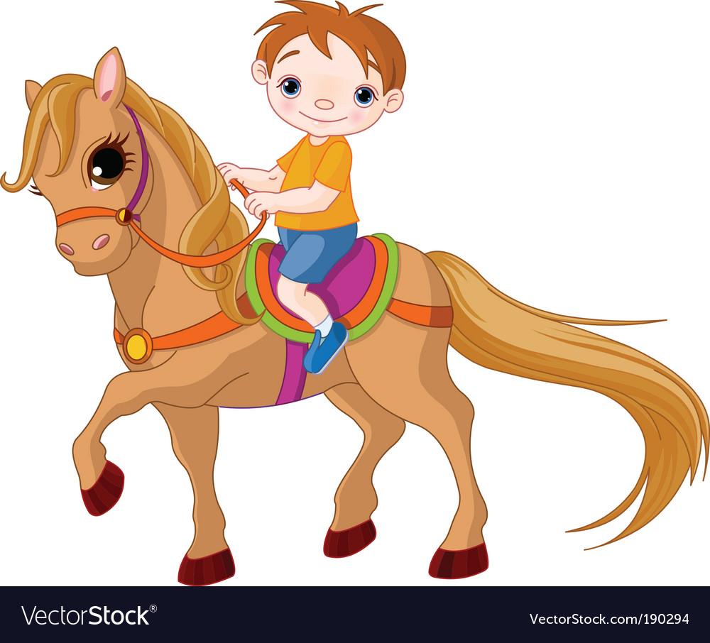 Horse Riding Royalty Free Vector Image Vectorstock
