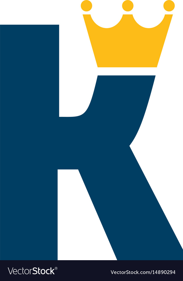 Letter k with crown logo design