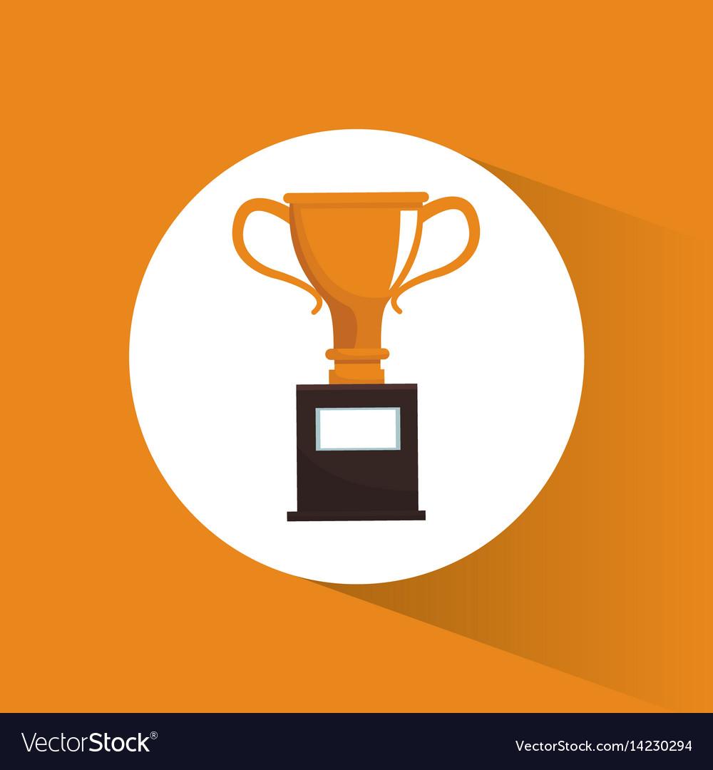 Trophy award marketing image vector image