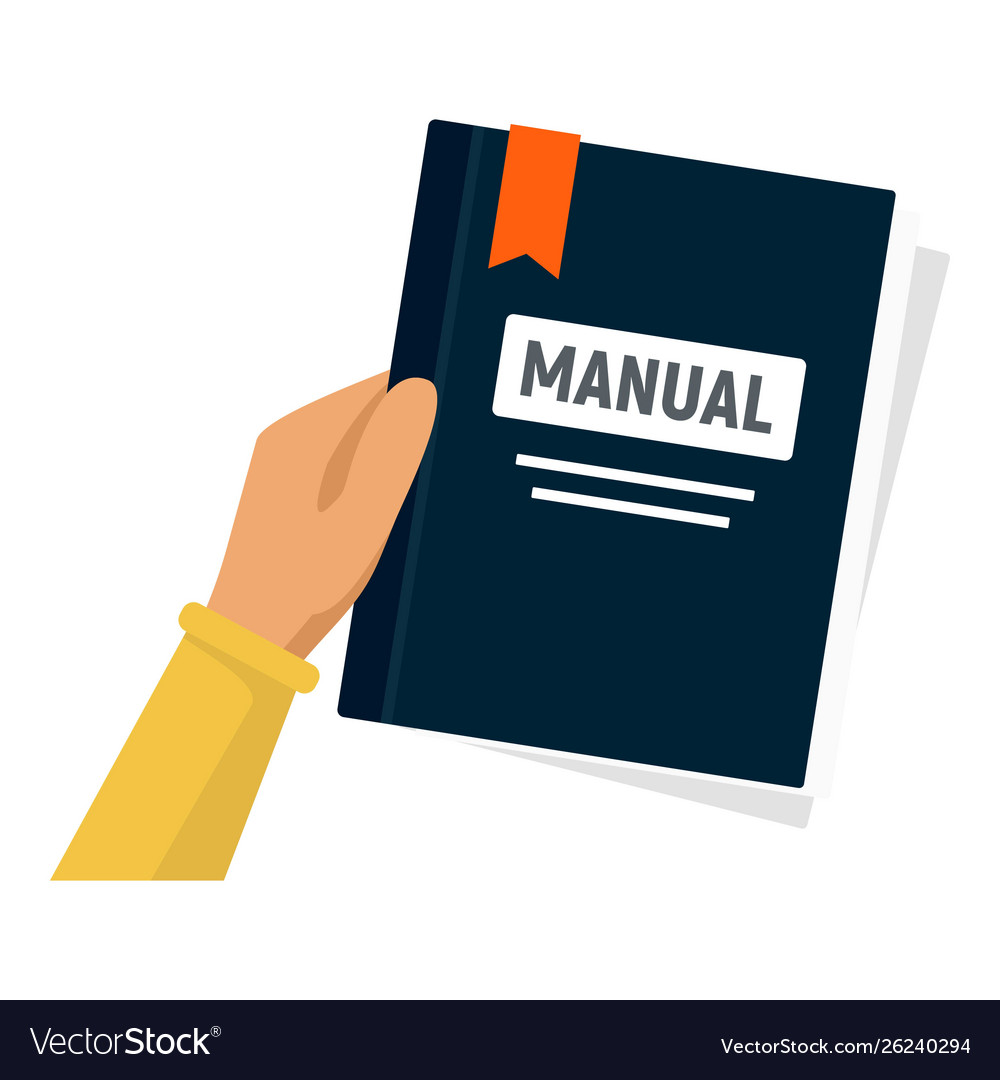 User manual icon flat style Royalty Free Vector Image