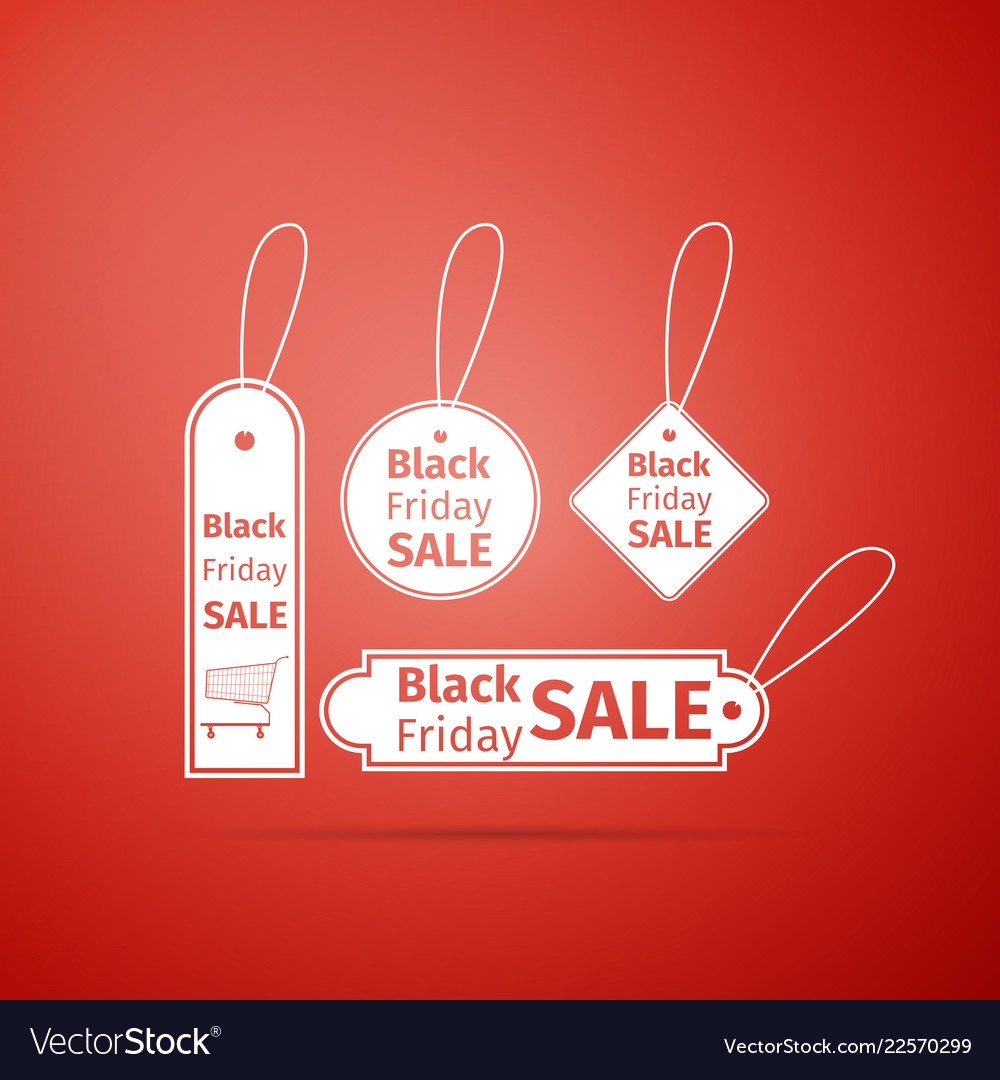 Black friday sales tag icon isolated